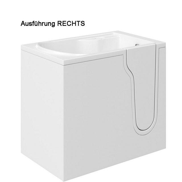 Badewannen und Whirlpools - HAK Badewanne »FREEDOM, Sitzbadewanne mit Tür«, 127x66 cm, rechts  - Onlineshop OTTO
