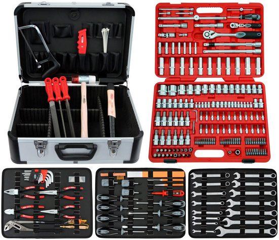 FAMEX Werkzeugkoffer »716-21«, Komplettset, inkl. 174-tlg. Steckschlüsselsatz