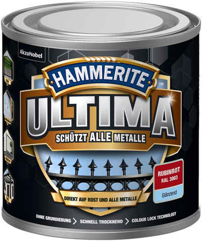 Hammerite Metallschutzlack »ULTIMA«, 3in1, rubinrot RAL 3003, glänzend