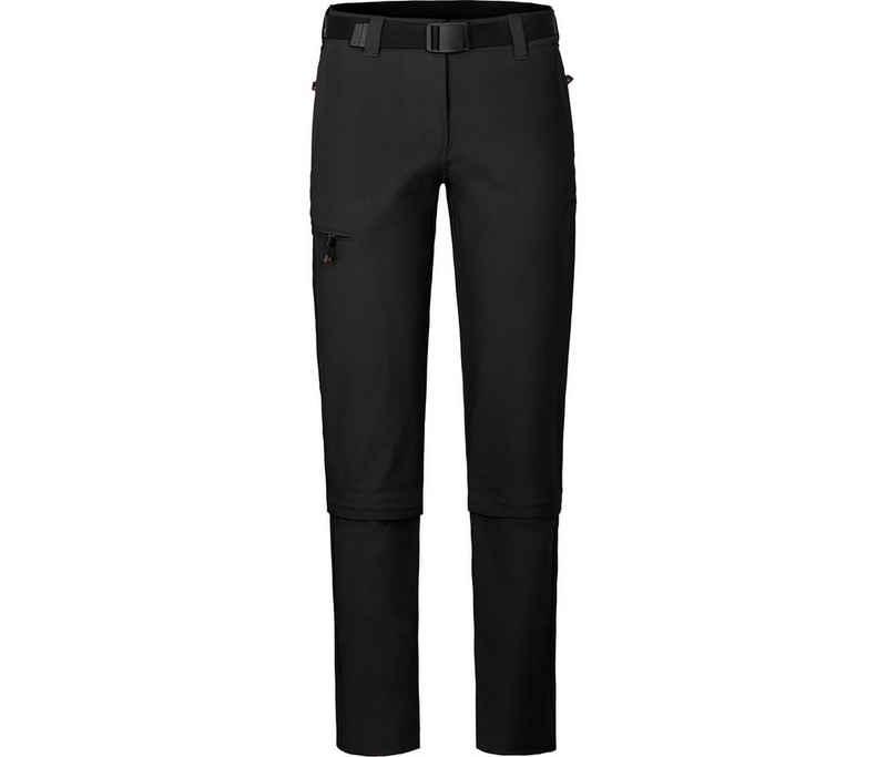 Bergson Zip-off-Hose »YORK Zipp-Off« Damen Wanderhose, vielseitig, pflegeleicht, Normalgrößen, schwarz