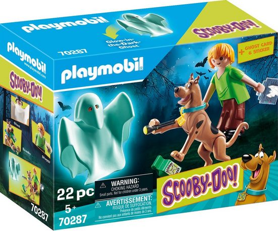 Playmobil® Konstruktions-Spielset »SCOOBY-DOO! Scooby & Shaggy mit Geist (70287), SCOOBY-DOO!«, Made in Europe