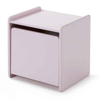 Lomadox Nachtschrank »SLIGO-12« Nachttisch mit 1 Tür rosa lackiert B x H x T ca. 40 x 41 x 36cm
