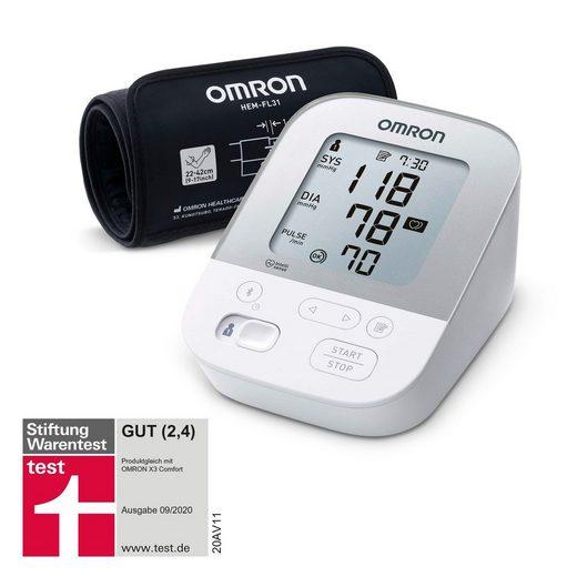 Omron Oberarm-Blutdruckmessgerät X4 Smart, mit Bluetooth und Intelli Wrap Manschette