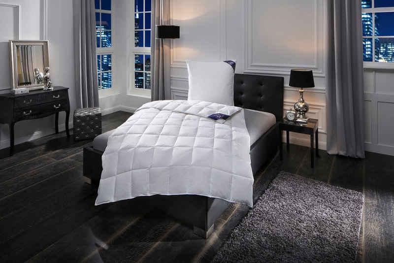 Daunenbettdecke + Federkissen, »Zürich«, Excellent, Füllung: Bettdecke 100% Daunen, Bezug: 100% Baumwolle, Gutes Wärmeverhalten bei hoher Leichtigkeit