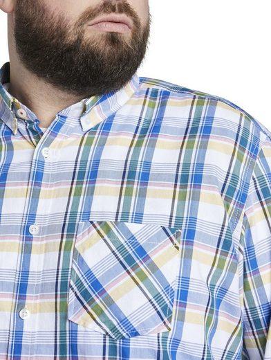TOM TAILOR Men Plus Langarmhemd »Kariertes Hemd«