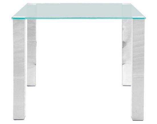 ebuy24 Esstisch »Klint Esszimmertisch 90x90 cm mit klarer Glasplatt«
