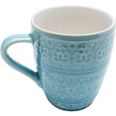 KARE Tasse »Tasse Sicilia Blau«, Stein u. Keramik