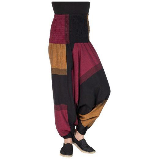 KUNST UND MAGIE Yogahose »KUNST UND MAGIE Damen bunt one size Boho Yoga Haremshose Freizeithose Aladinhose«