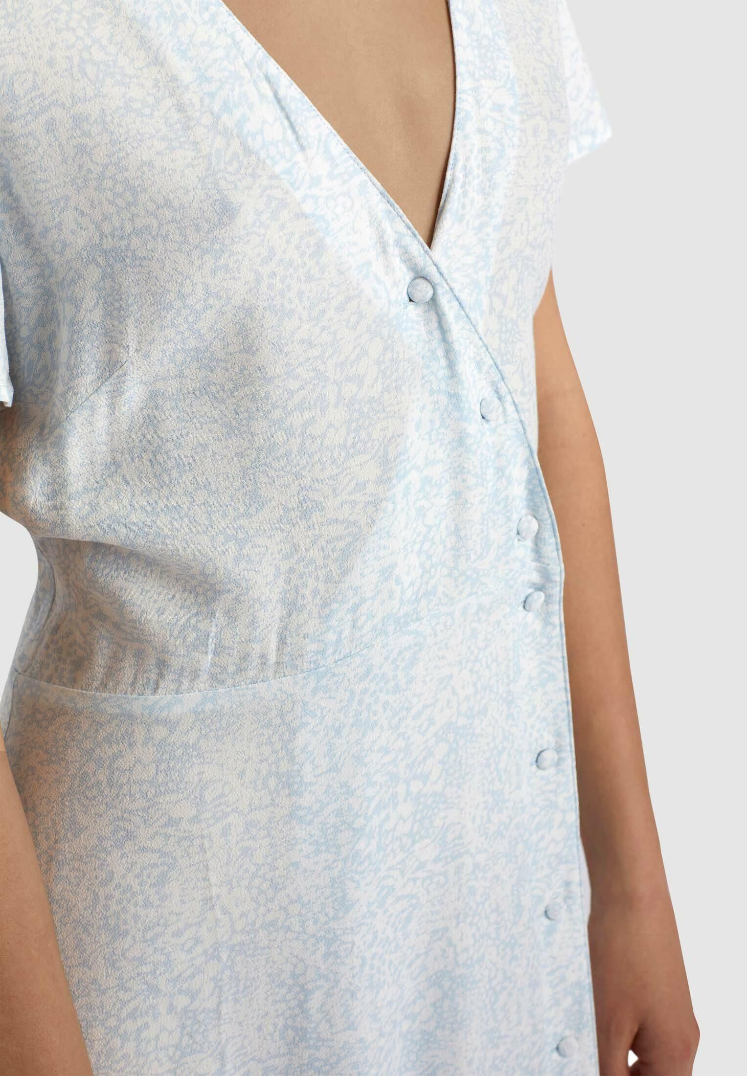 khujo Blusenkleid PACA mit asymmetrischer Knopfleiste