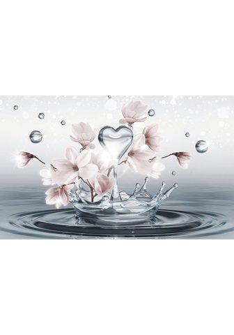 Consalnet Fototapetas »Magnolie 3D im Wasser« gl...