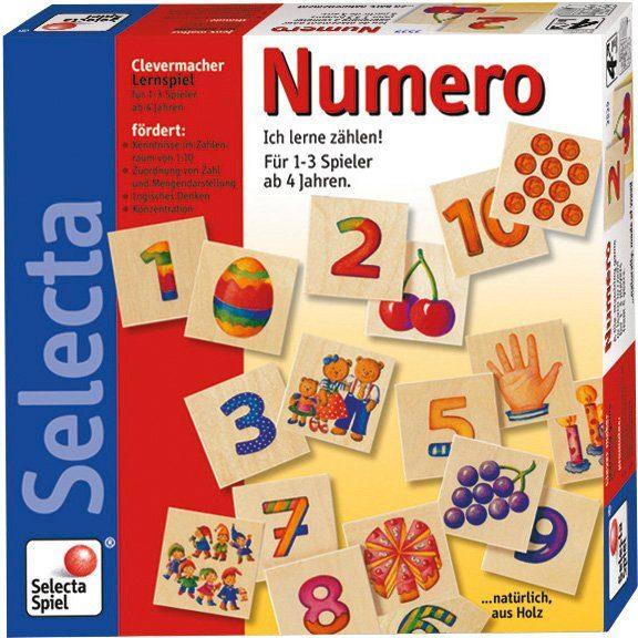 Holz Bilderlotto, Spiel mit 30 Teilen für Kinder Selecta