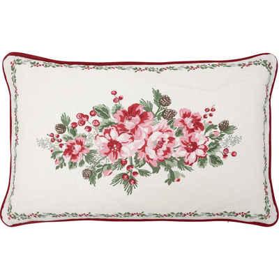 Greengate Kissenhülle »Greengate Kissen CHARLINE 30x50 Weiß mit Blumen«