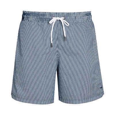 Mey Shorts »Swimwear«, Badeshorts - gestreift - Dehnbarer Bund mit Kordelzug, Gesäßtasche mit Reißverschluss, kleine Innentasche und seitliche Eingrifftasche, Lichtechtheit, Chlorechtheit, Schweißechtheit und Meerwasserresistenz