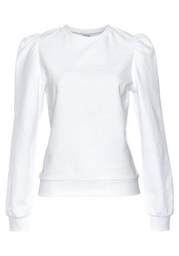 LASCANA Sweatshirt mit Ruffärmeln