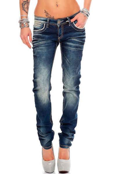 Cipo & Baxx 5-Pocket-Jeans »Cipo & Baxx Damen Jeans BA-WD256« Regular Fit Jeans-Hose im Casual Style