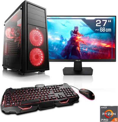 "CSL »Sprint T8423 Windows 10« PC-Komplettsystem (27"", AMD Ryzen™ 5 PRO 4650G, Radeon Graphics, 16 GB RAM, 1000 GB SSD)"