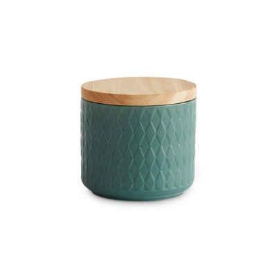 Springlane Vorratsdose »Mint«, Keramik, Kautschukholz, Silikon, (1-tlg)