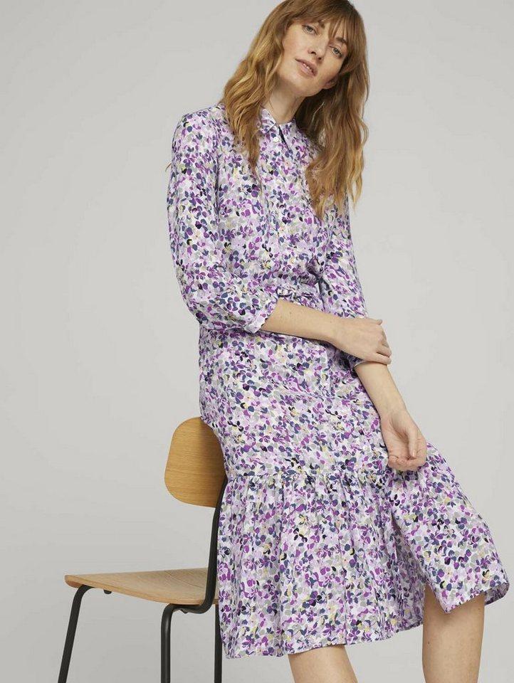 tom tailor -  Blusenkleid »Midi Blusenkleid mit Blumen«