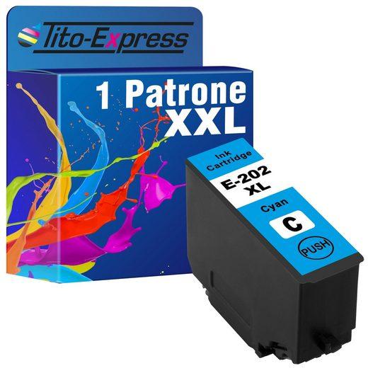 Tito-Express PlatinumSerie »ersetzt Epson 202XL 202 XL Cyan (C13T02H24010)« Tintenpatrone