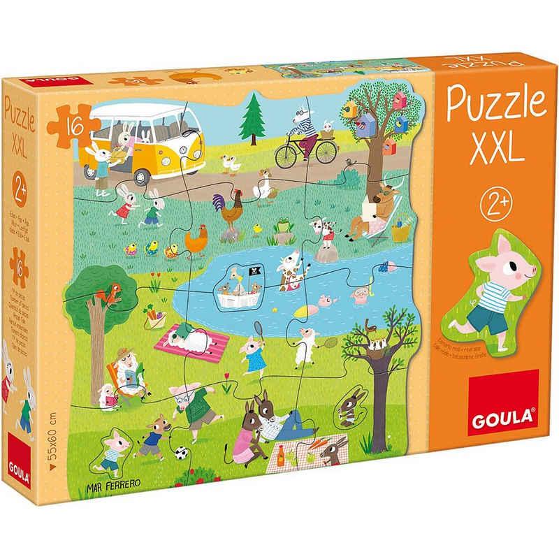 Goula Puzzle »XXL-Puzzle 16 Teile - Ein Tag auf dem Land«, Puzzleteile