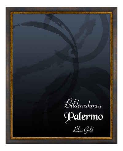 BIRAPA Einzelrahmen »Bilderrahmen Palermo«, (1 Stück), 20x25 cm, Blau Gold, Holz