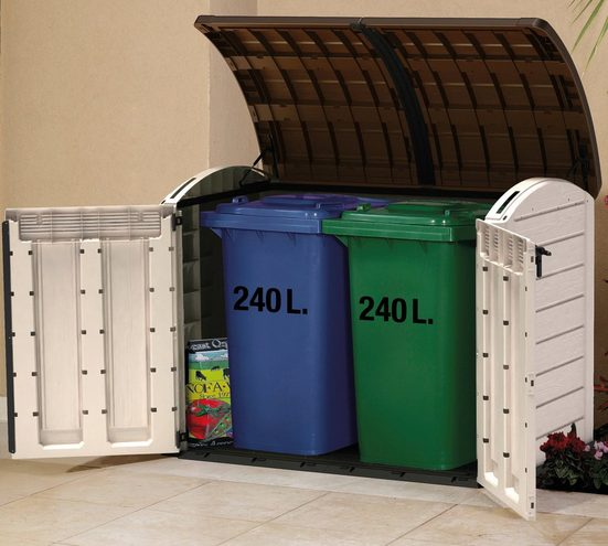 Keter Mülltonnenbox »Store It Out ULTRA«, BxTxH: 177x113x134 cm