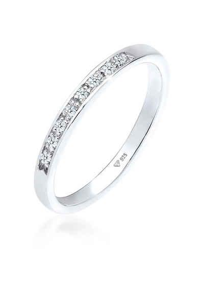 Diamore Verlobungsring »Aufsteckring Funkelnd Diamant (0.04 ct) 925 Silber«