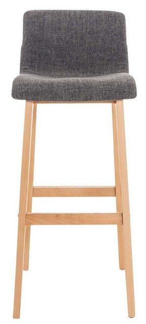 Sessel und Hocker - CLP Barhocker »Hoover Stoff« (Set, 2er), Holzgestell natura  - Onlineshop OTTO