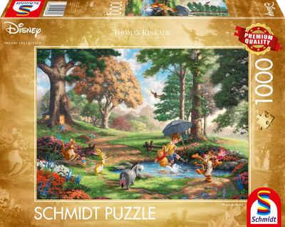 Schmidt Spiele Puzzle »Winnie The Pooh Disney Puzzle, Thomas Kinkade«, 1000 Puzzleteile, Made in Europe