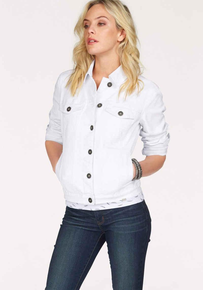 Arizona Jeansjacke aus elastischem Denim im klassischem Stil