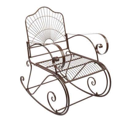 FCH Schaukelstuhl, 56x 88 x 97cm Eisen Schaukelstuhl Gartenstuhl Schwingsessel Metallstuhl Sessel