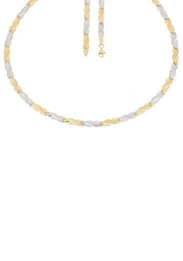 Firetti Goldkette »In Stampatokettengliederung, 4,8 mm breit, glänzend, teilw. rhodiniert, bicolor«