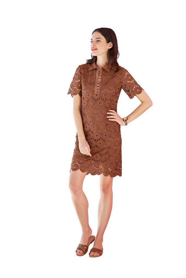 Festtagsmode - LINEA TESINI by Heine Spitzenkleid »Spitzen Kleid« › braun  - Onlineshop OTTO