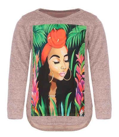 KMISSO Sweatshirt »Mädchen Pullover mit Motiv« (1-tlg) Sweatshirt, mit Print