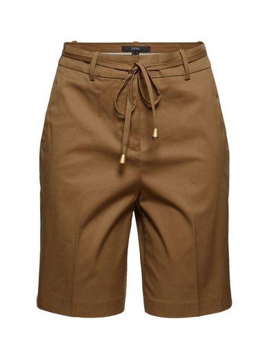 Esprit Collection Shorts »Premium-Shorts aus Twill mit Gürtel« (1-tlg)