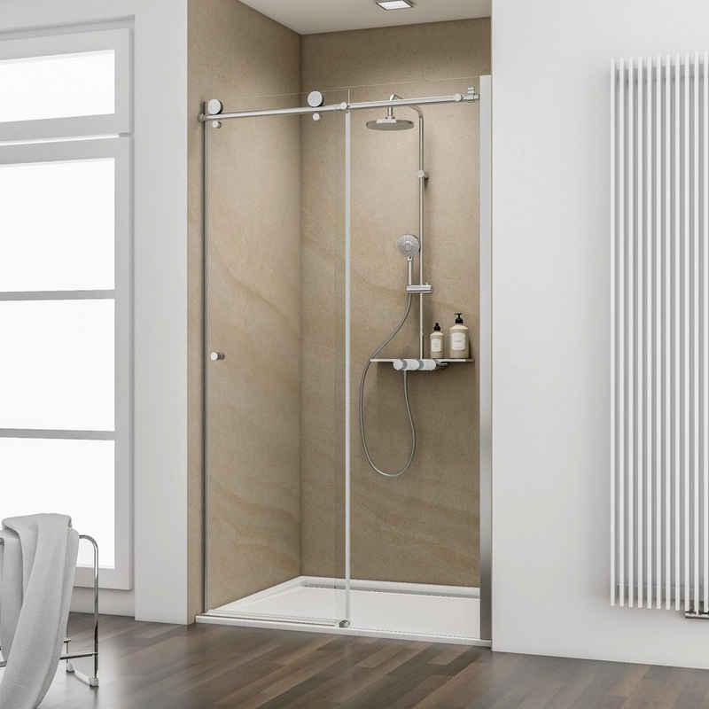 Schulte Dusch-Schiebetür »MasterClass«, 120x200 cm, Einscheibensicherheitsglas, mit kugelgelagerter Laufschiene