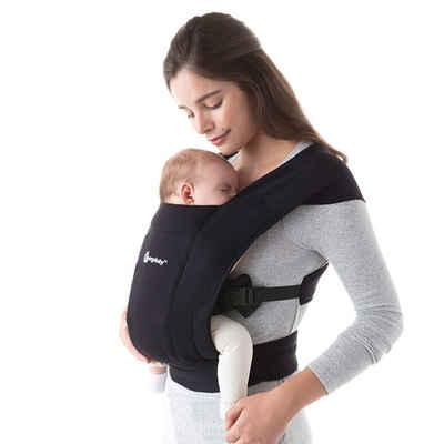 Ergobaby Babytrage »Embrace - Pure Black«, Ergonomische Bauchtrage für Neugeborene