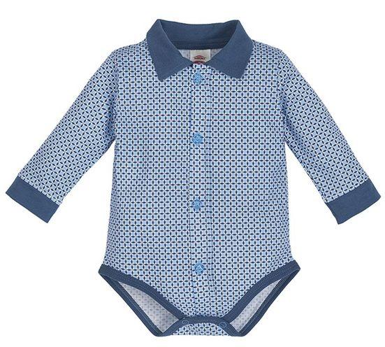 Makoma Hemdbody »Baby Langarm Body mit Kragen für Jungen« 100% Baumwolle