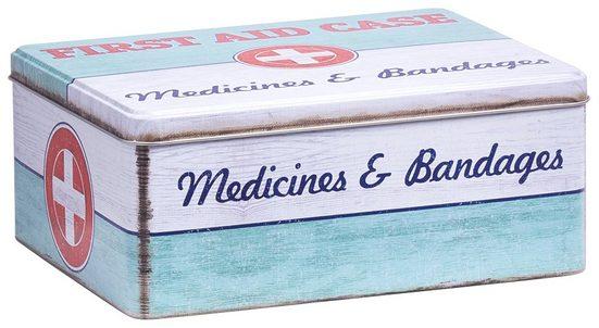 ZELLER Aufbewahrungsbox »First Aid Case - groß«, L/B/H: 21 x 16,6 x 8,5 cm, im Vintage-Look