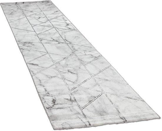 Läufer »Kraft 524«, Paco Home, rechteckig, Höhe 17 mm, Teppich-Läufer, Kurzflor, gewebt, mit Marmor-Design