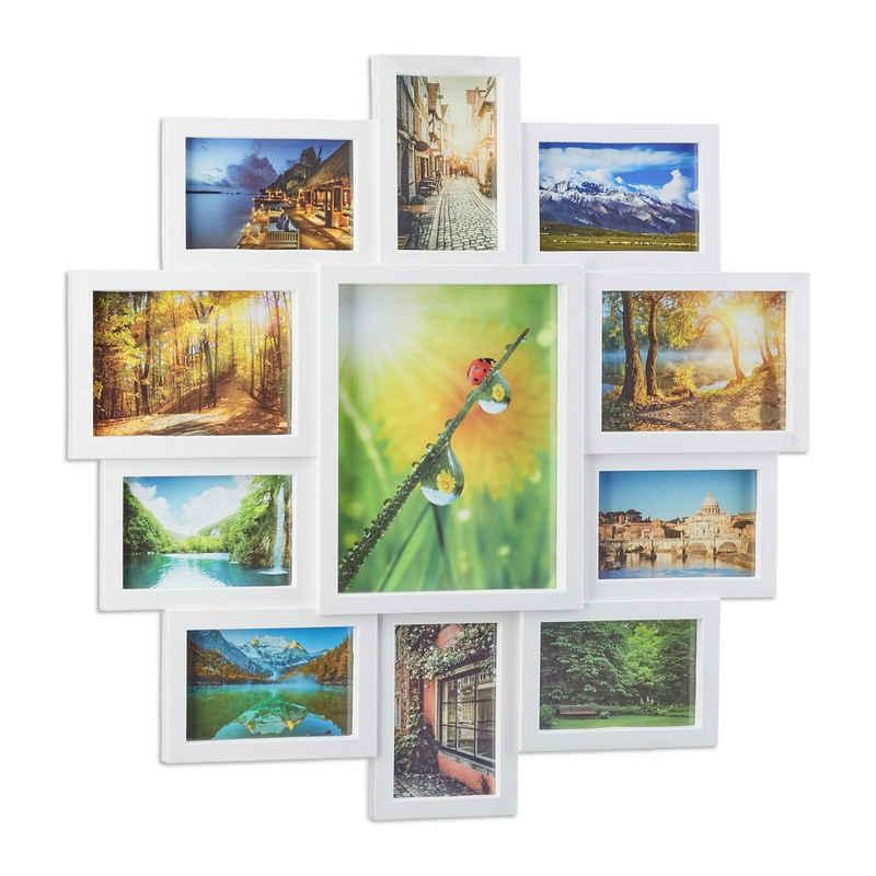 relaxdays Staffelbilderrahmen »Bilderrahmen Collage 11 Fotos«