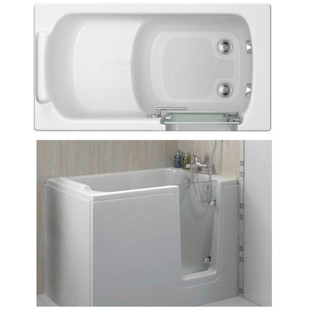 Badewannen und Whirlpools - HAK Badewanne »DEEP,Sitzbadewanne mit Tür«, 121x65 cm, rechts  - Onlineshop OTTO