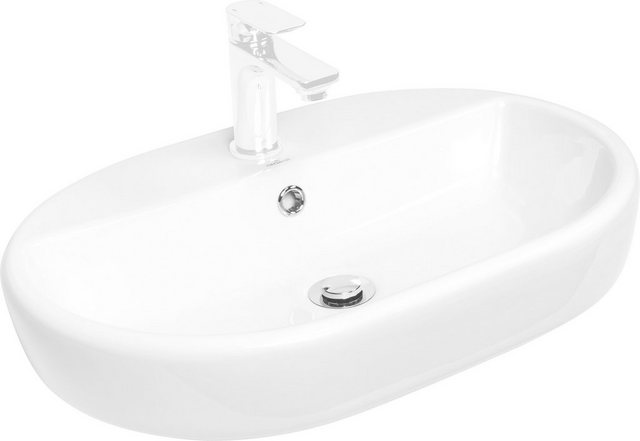 Waschtische - CORNAT Kombi Set Aufsatz Waschbecken »Caspia oval«, inkl. Einhebelmischer  - Onlineshop OTTO
