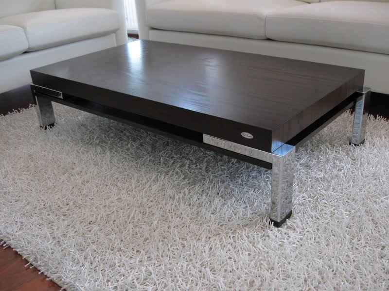 carl svensson Couchtisch »Design Couchtisch Tisch K-111 Walnuss / Wenge Chrom Carl Svensson 122x60x35cm«
