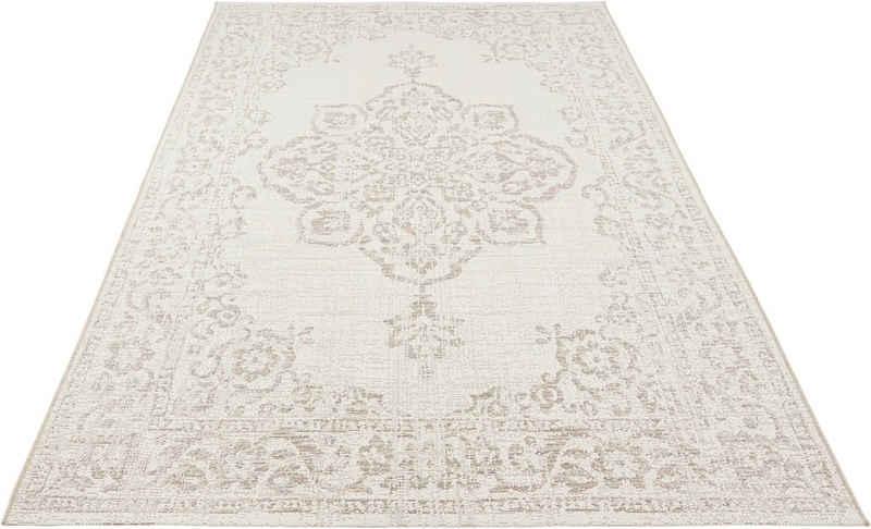 Teppich »Tilos«, bougari, rechteckig, Höhe 8 mm, Flachgewebe, In- und Outdoor geeignet, Vintage-Design, Für Terasse und Balkon, Wohnzimmer