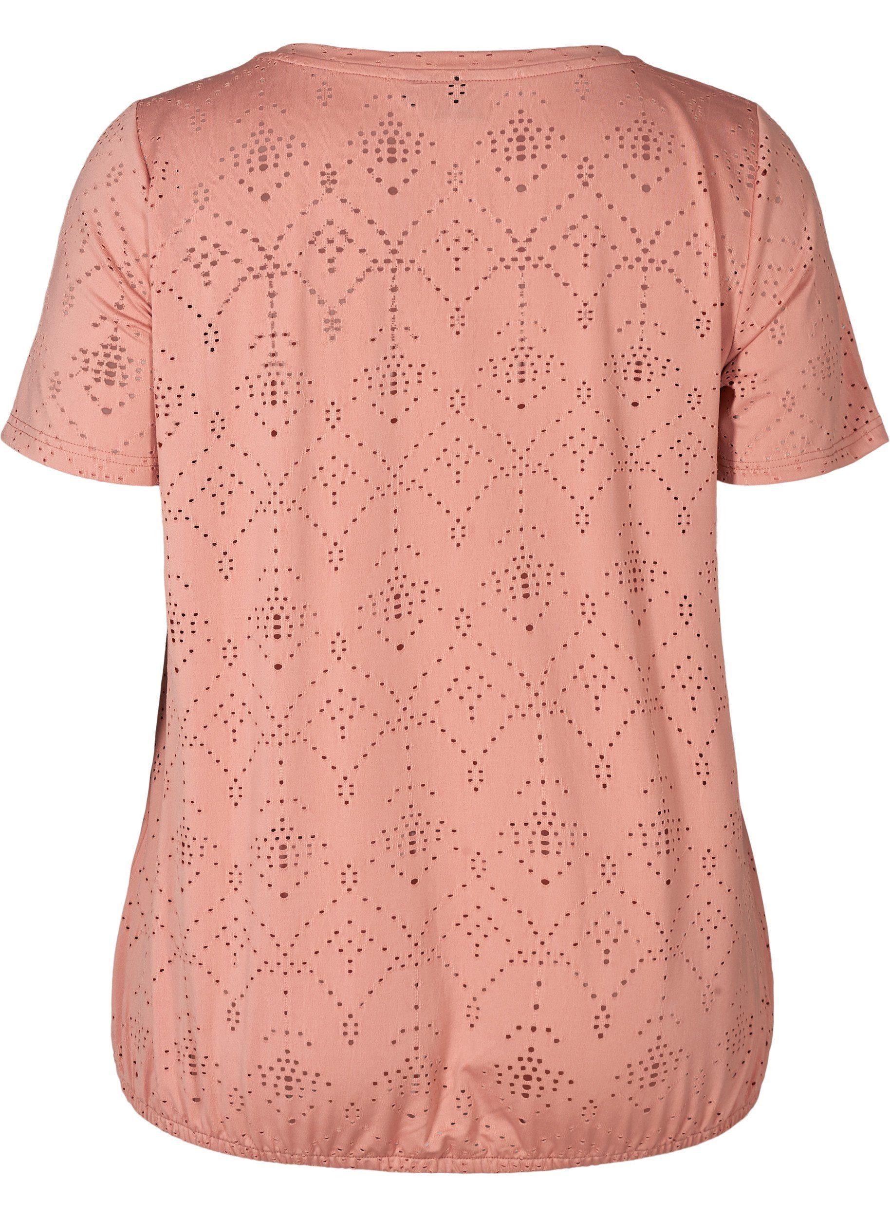 Zizzi T-Shirt Große Größen Damen Kurzarm T-Shirt mit V Ausschnitt