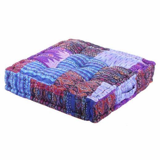 Casa Moro Sitzkissen »Patchwork Sitzkissen Kanthara 45x45 cm inklusive Füllung mit Tragegriff, Vintage Yogakissen Matratzenkissen Sitzauflage«, MA507