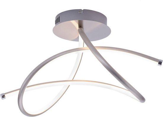 Leuchten Direkt LED Deckenleuchte »VIOLETTA«, inklusive festverbaute LED, geschwungene aus Stahl gefertigte Deckenlampe