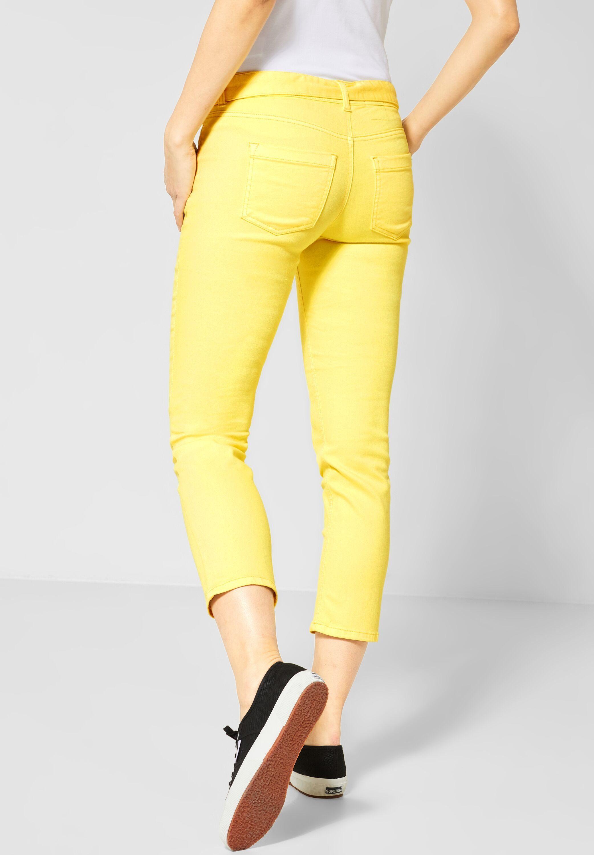 STREET ONE Straight-Jeans im Colour Look mit Antique Dye Effekt