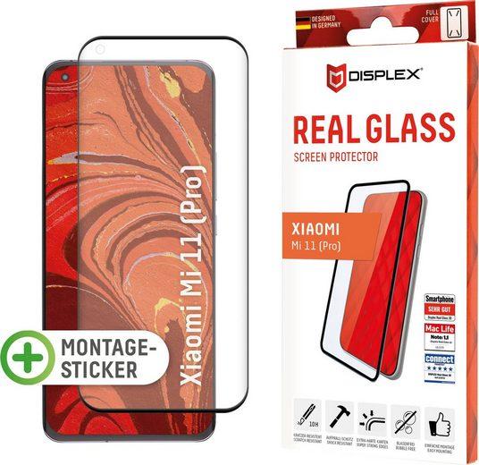 Displex »DISPLEX Real Glass Panzerglas für Xiaomi Mi 11/11 Pro/11 Ultra (6,8), 10H Tempered Glass, mit Montagesticker, Full Cover« für Xiaomi Mi 11/11 Pro/11 Ultra, Displayschutzglas, 1 Stück